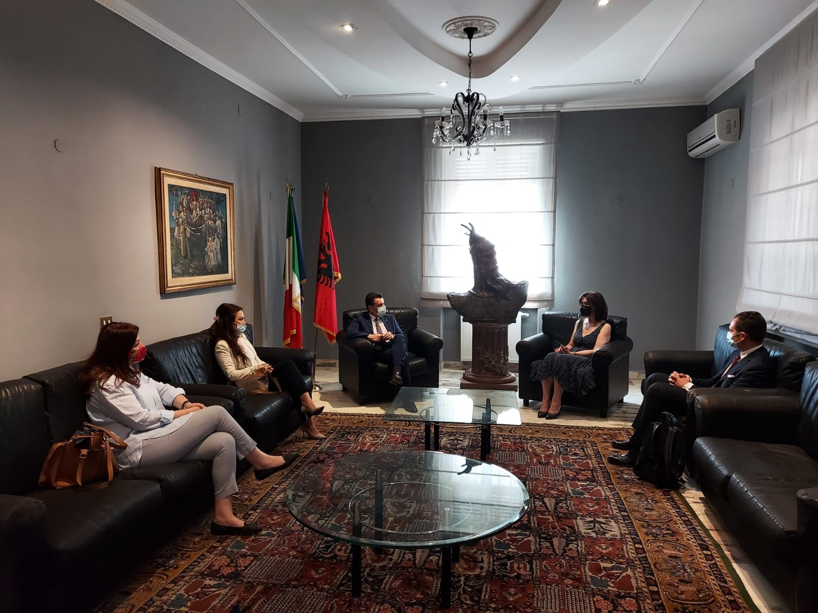 Fact-finding visit of Albanian State Police delegation at International Operations Room, Italy
